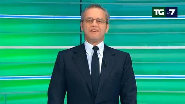 Enrico Mentana, il direttore del tgla7