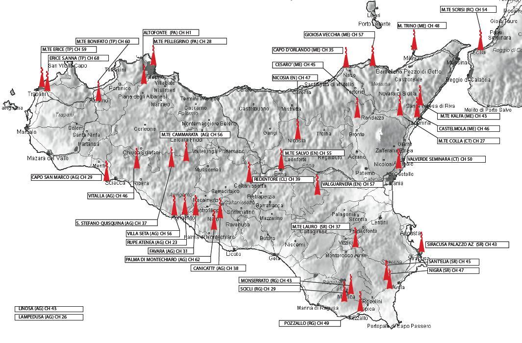 Ripetitori Antenna Sicilia
