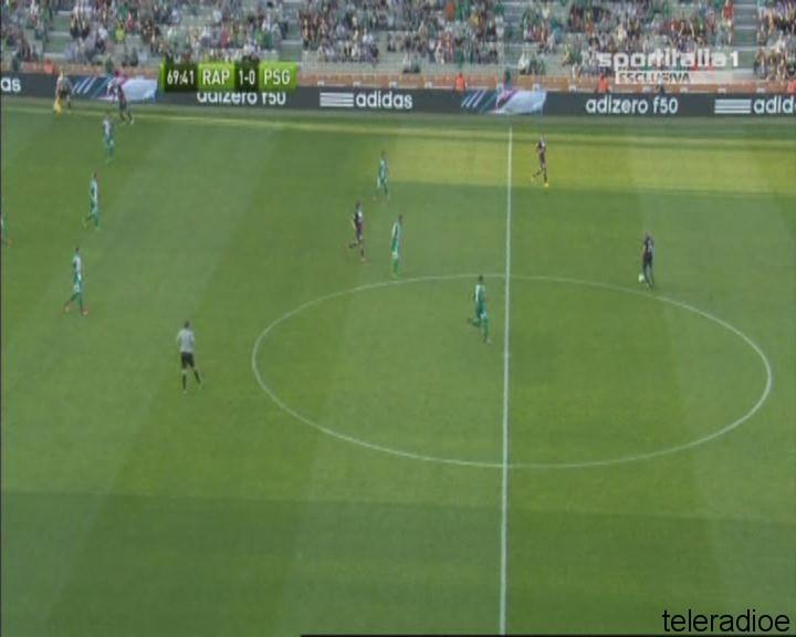 Sportitalia AMICHEVOLE ESTIVA PSG - RAPID VIENNA  2^ T. 07-14 01-31-34