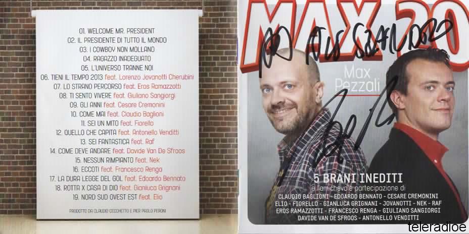 Cd Max 20 autografato