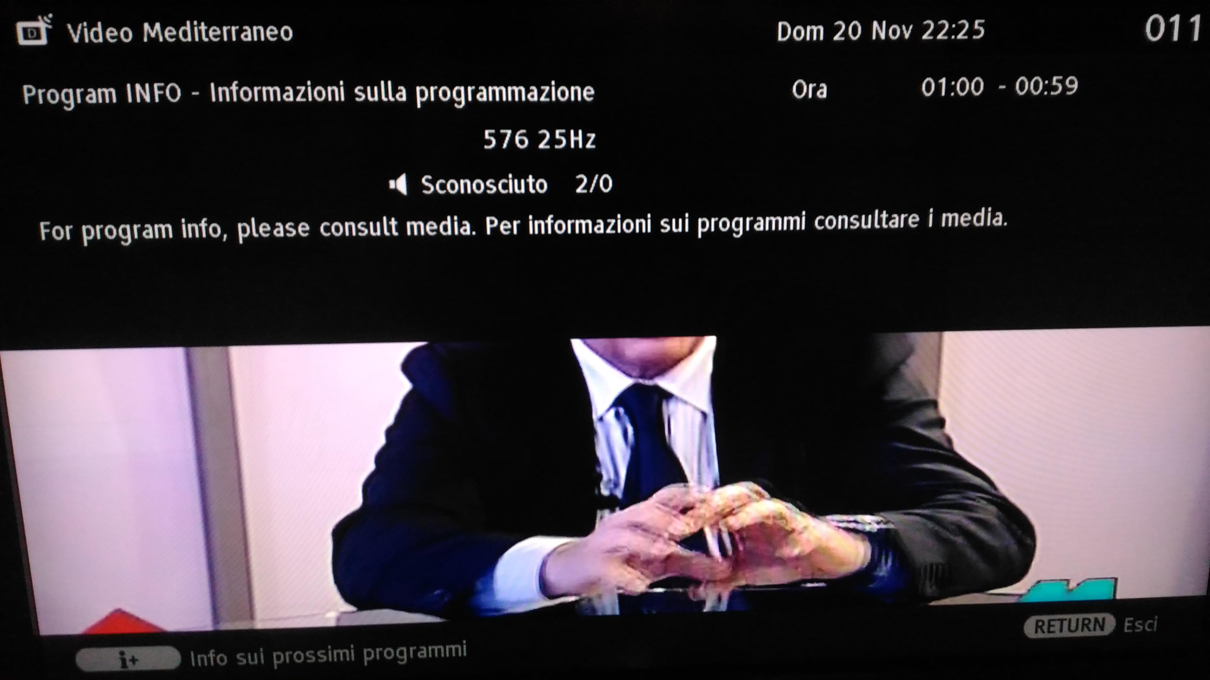 Program Info – Test di EPG sui canali di Videomediterraneo