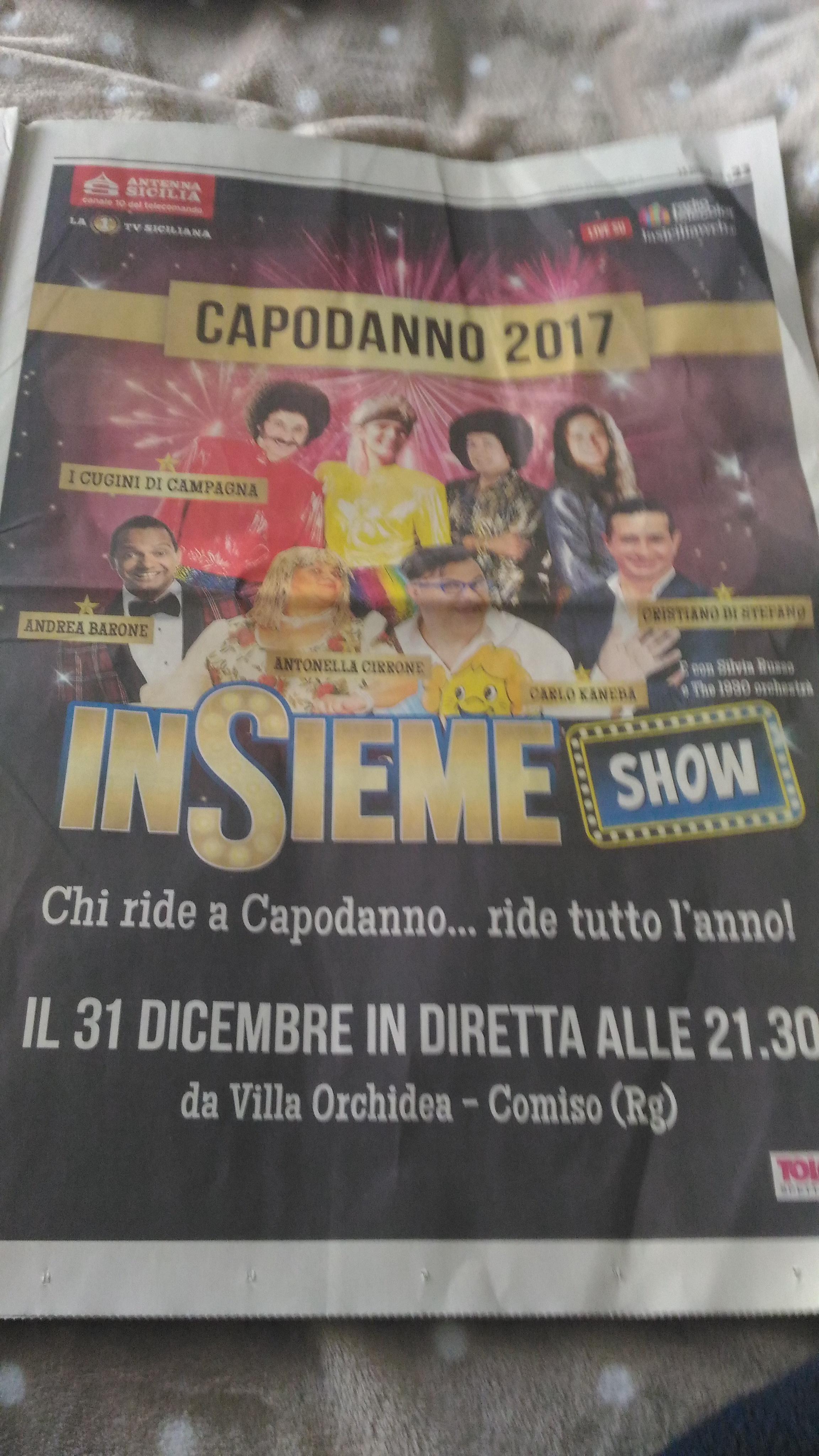 Insieme Show Capodanno 2017 da Comiso
