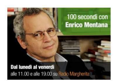 100 secondi con Enrico Mentana anche su Radio Margherita