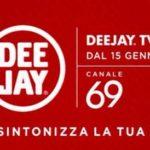 Deejay Tv torna sul digitale terrestre, canale 69