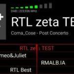 Modificato ID DAB+: da Radio Test a RTL Zeta Test