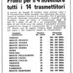 4 novembre 1961: nasce il secondo programma tv e viene attivata UHF