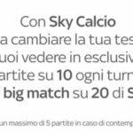 Quali partite di serie A vedo su Sky?