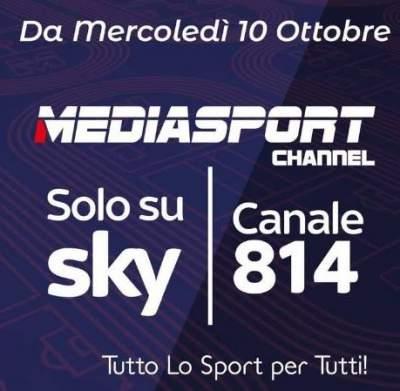 Mediasport Channel al canale 814 Sky
