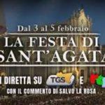 La festa di Sant'Agata 2019 in diretta su TGS e RTP