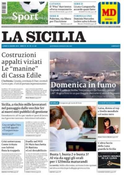La Sicilia diventa tabloid e aumenta il prezzo
