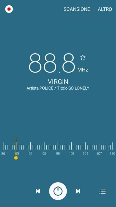 Aggiunto Radio Text con titolo brano per Virgin e Radio 105