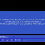 Curioso cartello su Tremedia (mux Rei Tv)