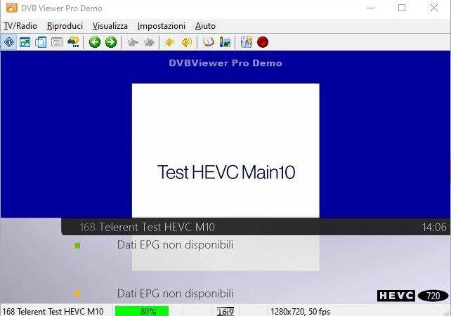 Inserito Telerent Test HEVC M10